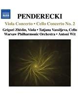 Krzysztof Penderecki : Concerto pour alto - Concerto pour violoncelle n° 2
