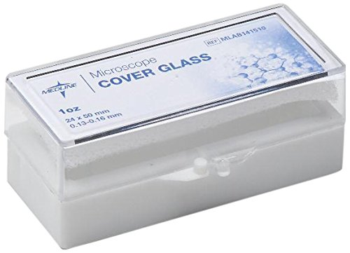 Medline Industries Mlab141510 Microscope Cover Glass, 24Mm X 50Mm Size, #1 Thickness, , (Pack Of 10)