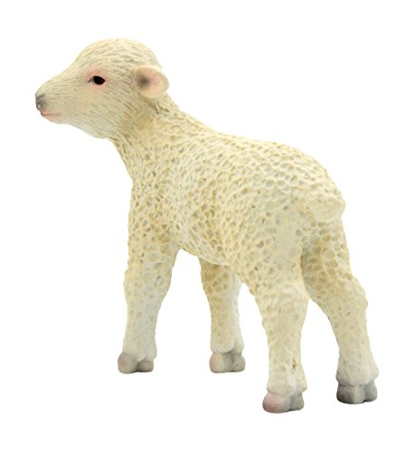MOJO LAMB STAND HAND PAINTED REPLICA FARM ANIMAL COLLECTABLE TOY FIGURES 387098