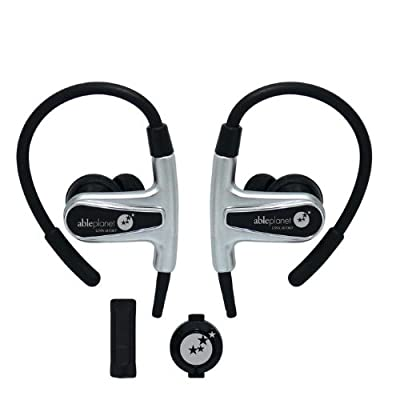 Able Planet SI400 Sound Clarity Sport In Ear/Hook Headphones with Microphone and Remote, Gun Metal