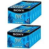 Sony DVM60PR10KB 60-Minute Premium DVC/MiniDV Tapes - 10 Pack