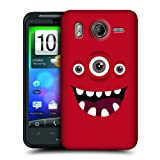 Head Case Designs Red Jolly Monsters Hard Back Case Cover for HTC Desire HD