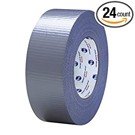 IPG AC10 Utility Grade Duct Tape, 17 lbs/in Tensile Strength, 54.8m Length x 48mm Width (Case of 24)