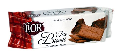 Lior Tea Biscuit, Chocolate, 150-Grams (Pack of 24)
