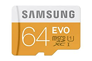 Samsung 64GB EVO Class 10 Micro SDXC Card with Adapter up to 48/MB/s (MB-MP64DA/AM)