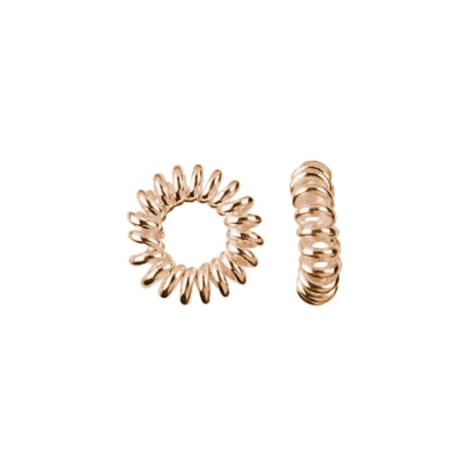 25pc 5.5mm Grooved Ring Spacer   Rose Gold Plate