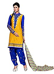 Balle Balle yellow colored dress material