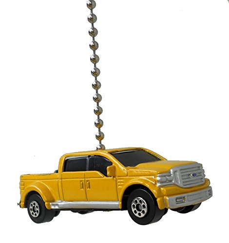 Maisto Yellow FORD F-350 extended cab pickup TRUCK Car Ceiling FAN PULL light chain (2004 F250 Cab Lights compare prices)