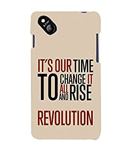 It's Our To Change Revolution 3D Hard Polycarbonate Designer Back Case Cover for Micromax Bolt D303