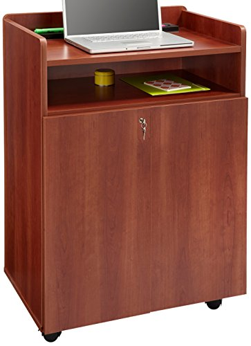 Safco Products 8919CY Executive Presentation Lectern Mobile Stand with Cabinet, Cherry (Mobile Fruit Stand compare prices)