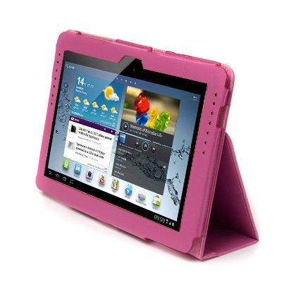 Neotechs Schutzhülle Case aus Leder (für Samsung Galaxy Tab 2 10.1), Pink