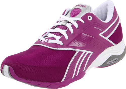 Reebok Traintone Anthlin 150236 Damen Sportschuhe - Fitness Violett  (primo purple/white/pure silver 59), EU 41 (UK 7.5)