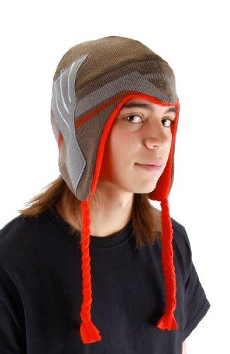 elope Marvel Men's Thor Movie Laplander Hat, Brown/Red, One Size
