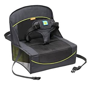 BRICA Fold N' Go Travel Booster Seat, Gray/Black/Green