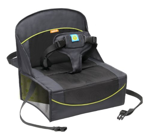 Big Save! BRICA Fold N' Go Travel Booster Seat, Gray/Black/Green