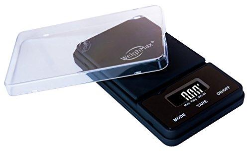 Weighmax-NJ100-BLACK-Dream-Series-Digital-Pocket-Scale-100-by-001-g-Black