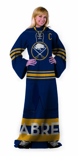 NHL Buffalo Sabres Adult Full Body Player Design Comfy Throw with Sleeves at Amazon.com