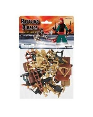 Buy Low Price Toysmith Battling Pirates vs. Skeleton Warriors 36 piece Playset Figure (B000RYM2F0)