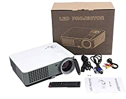 IBS 2200 Lumens Mini Led Rd-801 Smart Lcd Video Home Theater 1080P Movie Player 50000/60000 Hours Life 5 Inch Displays Screen Black Portable Projector