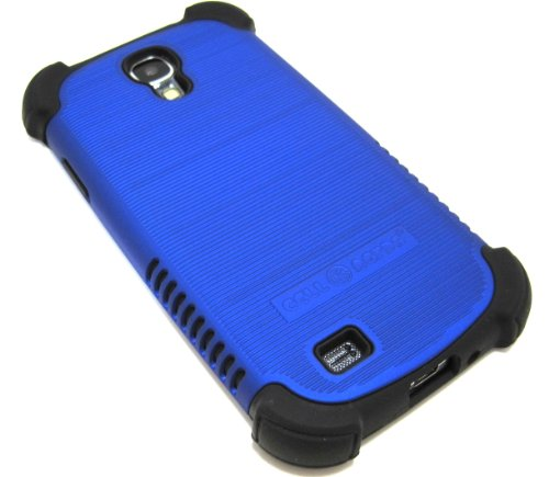 Cell-Nerds Nerdshield Grip Case Cover For The Samsung Galaxy S4 - Cell-Nerds Packaging (Blue On Black)