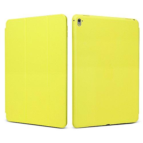 "iPad Pro 9.7 ""Case, JGOO [Full Body Protection] Ultra Slim Folio Abdeckung mit Standplatz und Magnetic Smart Cover Auto-Spur-Schlaf On / Off-Funktion, Klassische Eleganz Stil f¨¹r iPad Pro 9.7 Zoll (2016 Release), Gelb"