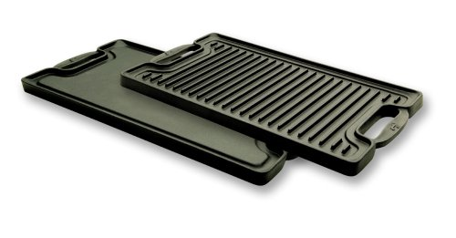 Emeril by All-Clad E6019764 Cast-Iron 2-Burner Reversible Grill Griddle Cookware, Black (Large Double Burner Griddle compare prices)