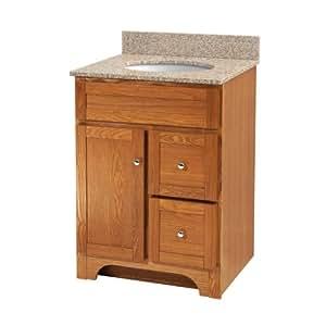 foremost wroa2421d worthington 24 inch oak bathroom vanity. Black Bedroom Furniture Sets. Home Design Ideas