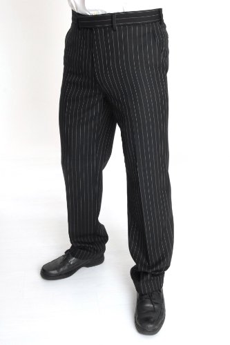 Brook Taverner Epsom Trousers 34inch Waist 33inch, Grey Pinstripe (8418A)