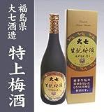 大七酒造 生もと梅酒 純米キモト原酒仕込み梅酒 720ml箱入り