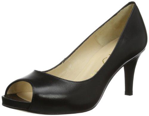 Unisa Womens OCASO_14 Peep-Toe Black Schwarz (BLACK) Size: 35