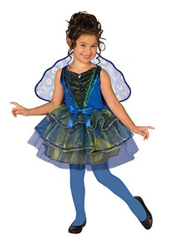 Big Girls' Peacock Costume X-Small (3T-4T)