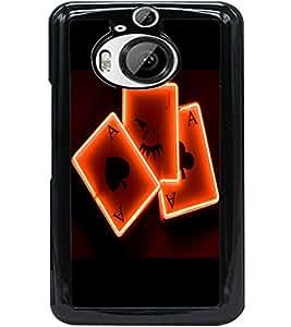 ColourCraft Digital Cards Design Back Case Cover for HTC ONE M9 PLUS