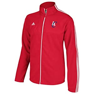 NBA Los Angeles Clippers Mens 3-Stripe Full Color Logo Mixed Jacket by adidas
