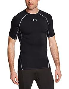 Under Armour Men's UA HeatGear Short-Sleeve Shirt - Black, Medium