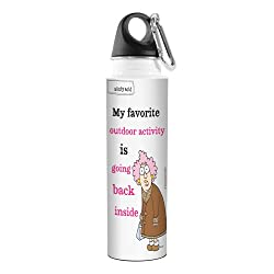 Tree-Free Greetings VB47810 Aunty Acid Artful Traveler Stainless Steel Water Bottle, 18-Ounce, Outdoor Activity