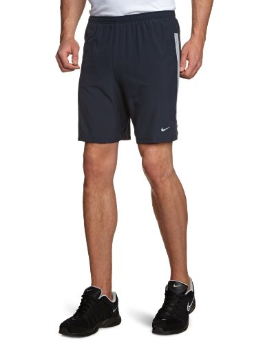 "NIKE Herren Sportshorts 7"" Stretch Woven 2-in-1 (s), sequoia/electric green/reflective silv, S, 504672-476"