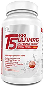 Strongest Fat Burner Pre-workout On Amazon T5 Ultimate Raspberry Ketones Edition 1750mg Active Per Serving Premium Thermogenic Appetite Suppressant Slimming Pills Ultra Potent Gmp Manufactured 90 Capsules from Nutribioticals Ltd