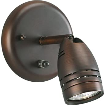 Progress Lighting P6154-174WB 1-Light Wall Mount Directional with On/Off Switch, Urban Bronze ...