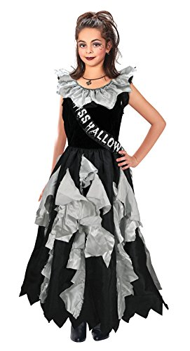 [8-10 Years Girls Zombie Prom Queen Costume] (Zombie Queen Costumes)