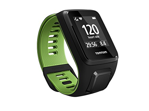 tomtom-runner-3-gps-running-watch-with-heart-rate-monitor-large-strap-black-green