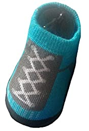 Nike Jordan Jumpman Baby Boys Sneaker Booties-Teal & Gray, Blue & Yellow 0-6 Months