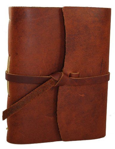 Genuine Leather Legends Journal - Hand made in the USA, Saddle