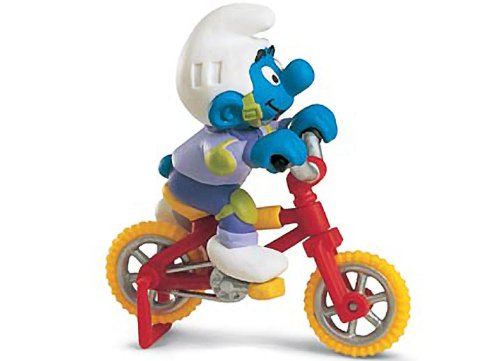 Picture of Schleich Biker Smurf: Smurf in a Diorama Mini Figure Series [402522] (B004RWCWPS) (Schleich Action Figures)