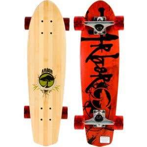 Arbor Pocket Rocket Signature Longboard Red/Bamboo, One Size