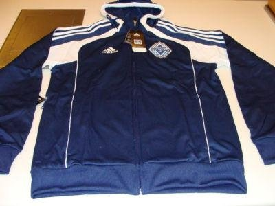 MLS Soccer Vancouver Whitecaps 2011 Travel Hoodie Full Zip Hoody Pillow NWT M - NHL Pillows