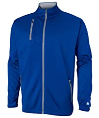 Russell Athletic Mens Tech Performance Fleece Full Zip Cadet