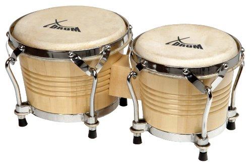 xdrum-bongo-pro-17cm-6-3-4-zoll-macho-und-20cm-8-zoll-hembra-holz-natur-percussion-holzbongo-naturfe