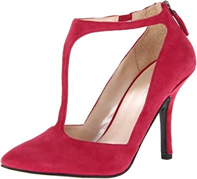 Nine West Women's Blonsky Pump,Red Suede,6.5 M US