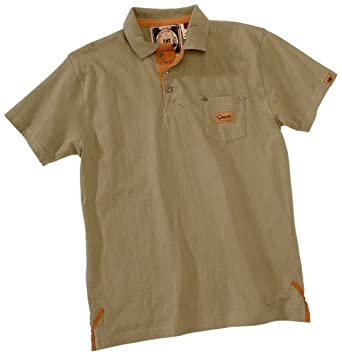 caterpillar mens rivet pocket polo shirt dusted