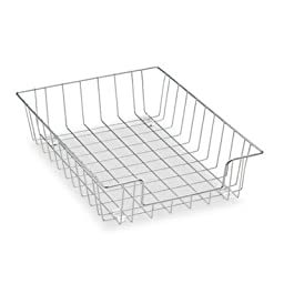 Workstation Letter Desk Tray Organizer, Wire, Silver, Sold as 1 Each
